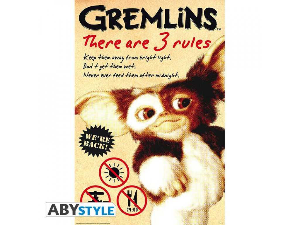 Plakát GREMLINS - Rules (91.5x61)