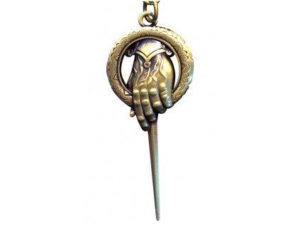 Přívěsek, klíčenka 3D/HAND OF KING/7,5 x 3 cm/KOVOVÝ