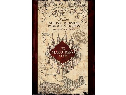 Plakát MARAUDERS MAP/150 g