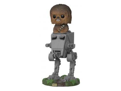 414656 figurka funko pop deluxe star wars chewbacca in at st 16 cm