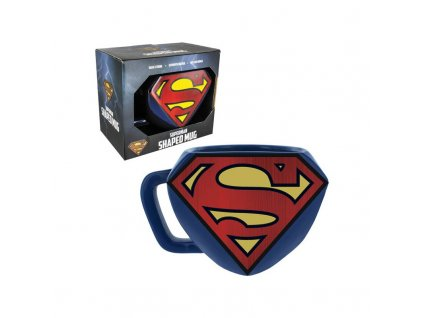 dc comics mug logo shaped superman x1