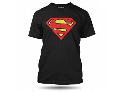 tricko superman logo black panske
