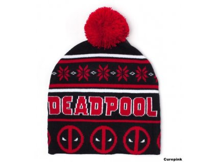 422957 cepice zimni kulich marvel deadpoolchristmas universalni
