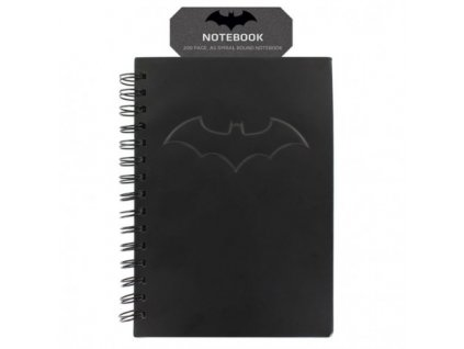 DC COMICS - Notebook Black Batman with logo x1