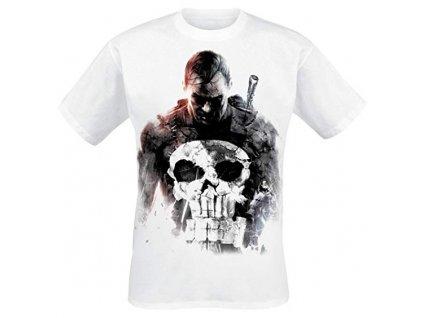 The Punisher - Smoke Men T-Shirt - White - S
