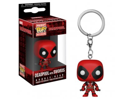 Deadpool Playtime Pocket POP! Vinyl klíčenka Deadpool with Swords 4 cm