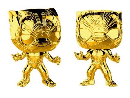 424232 figurka funko pop marvel studios 10 black panther chrome