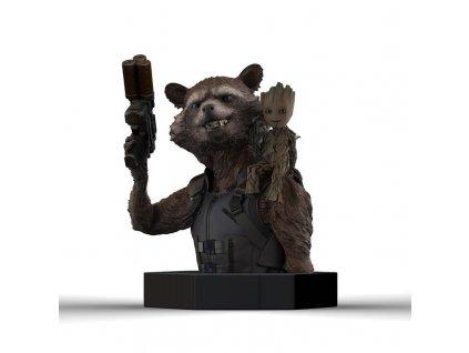 MARVEL - Rocker Racoon & Groot Bust 20cm