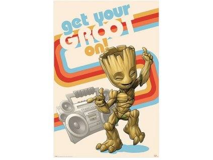 428339 plakat 61 x 91 5 cm marvel strazci galaxie get your groot on
