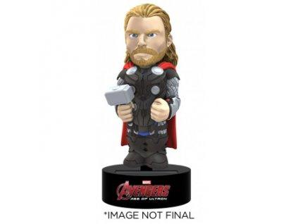 Marvel Avengers Age Of Ultron - Thor Solar Powered Body Knocker 15cm Bobble Head