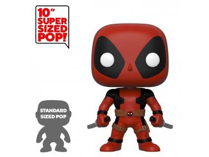 429806 figurka funko pop deadpool super sized two sword red deadpool 25 cm
