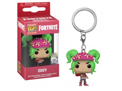 Funko POP! Keychain: Fortnite - Zoey Vinyl Figure 4cm