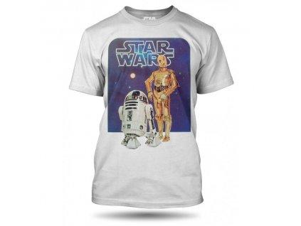 Tričko Star Wars Robot 3PO and R2-D2 modré pánské