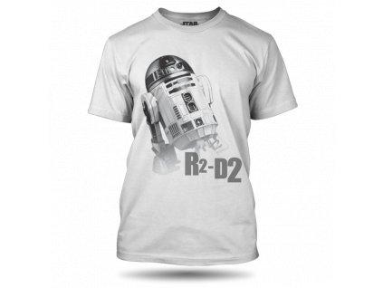 Tričko StarWars Robot R2-D2 Bílé pánské