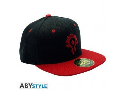 world of warcraft snapback cap black red horde