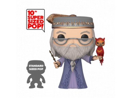 Funko POP! Harry Potter - 10 Dumbledore w/Fawkes Vinyl Figure 25cm""