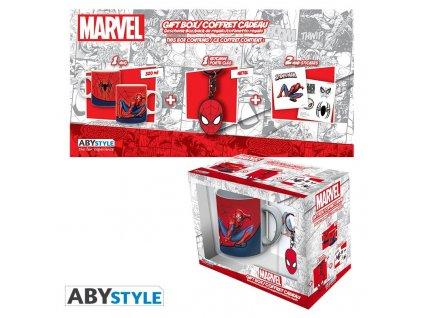 marvel pck mug320ml keyring sticker spider man