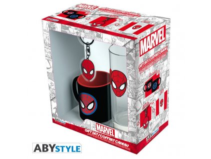 marvel pck glass 29cl keyring mini mug marvel spider man