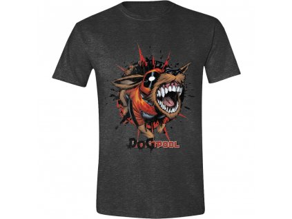 Pánské tričko Deadpool - Dogpool - Anthracite Melange (Velikost XXL)