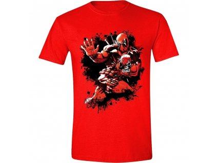 Pánské tričko Deadpool - Jump - červené (Velikost XXL)