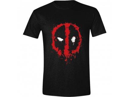 Pánské tričko Deadpool splatter Logo - černé (Velikost XL)