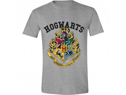 Pánské tričko Harry Potter - Hogwarts - šedé (Velikost XXL)