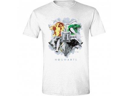 Pánské tričko Harry Potter - Painted Crest - bílé (Velikost XXL)