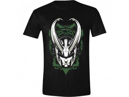 Pánské tričko Loki - Ornaments - černé (Velikost XXL)