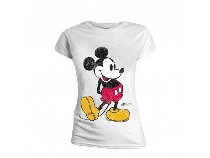 Dámské tričko Mickey Mouse - Classic Kick bílé (Velikost XL)