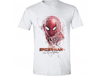 Pánské tričko Spider-Man - sketched Hero - bílé (Velikost XXL)
