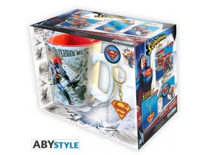 dc comics pck mug keychains badges superman