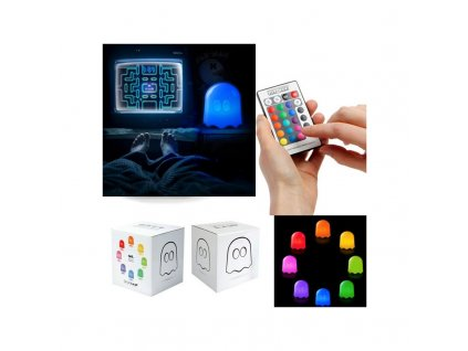 pac man ghost multicolor lamp with remote control