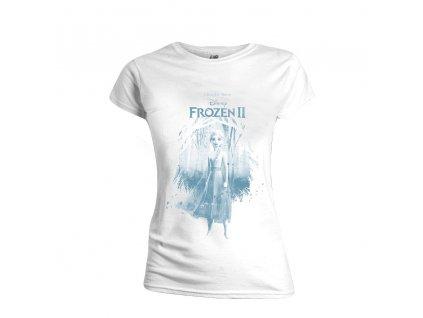 Dámské tričko Frozen II - Find the Way - bílé (Velikost XS)
