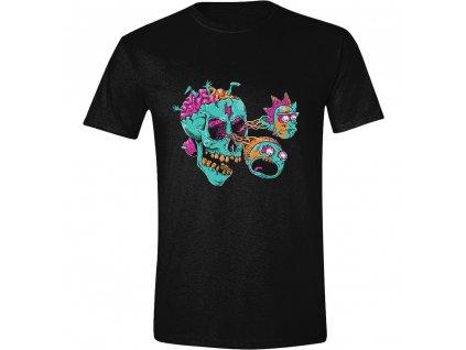 Pánské tričko Rick and Morty - Eyeball Skull - černé (Velikost XL)