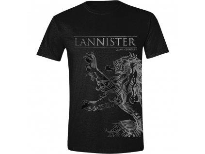Pánské tričko Game of Thrones - Lannister symbol černé (Velikost XL)