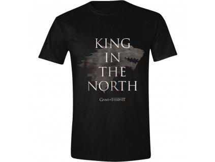 Pánské tričko Game of Thrones - King In The North - černé (Velikost XXL)