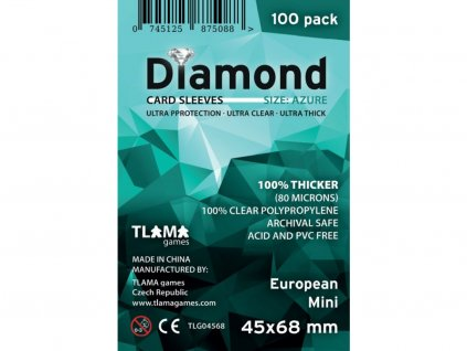 Obaly na karty Diamond Azure: European Mini (45x68 mm) (80 mikronů, 100 ks)