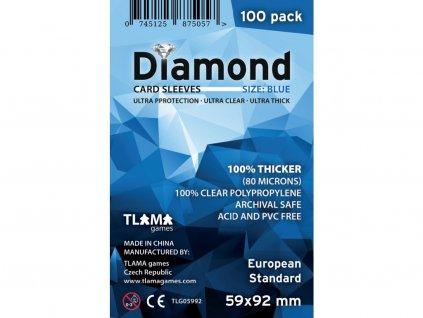 Obaly na karty Diamond Blue: European Standard (59x92 mm) (80 mikronů, 100 ks)
