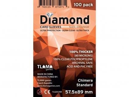 Obaly na karty Diamond Orange: Chimera Standard (57,5x89 mm) (80 mikronů, 100 ks)