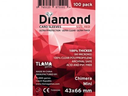 Obaly na karty Diamond Red: Chimera Mini (43x66 mm) (80 mikronů, 100 ks)