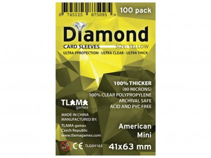 Obaly na karty Diamond Yellow: American Mini (41x63 mm) (80 mikronů, 100 ks)
