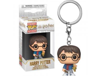 Klíčenka Pocket POP! Harry Potter - Harry (Holiday)