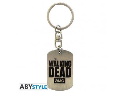 "THE WALKING DEAD - Porte-clés ""Dog tag logo"" X4*"