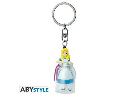 """DISNEY - Porte-clés 3D """"Alice dans la bouteille"""" X2"""