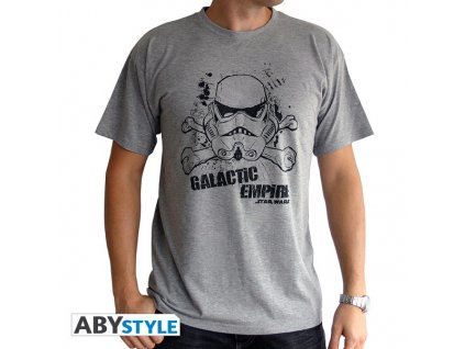 "STAR WARS - Tshirt ""Galactic Empire"" man SS sport grey - basic*"