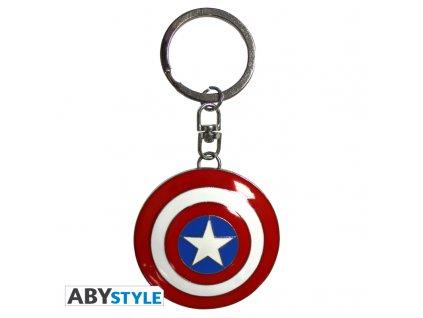 """MARVEL - Porte-clés 3D 'Bouclier Captain America"""" X2"""