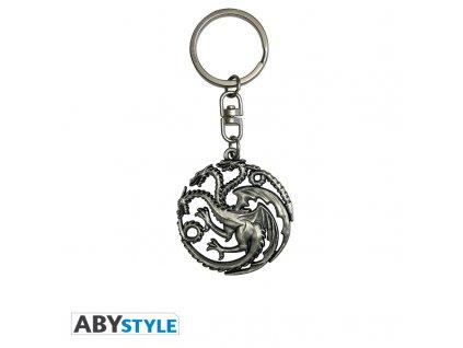 "GAME OF THRONES - Porte-clés 3D ""Targaryen"" X2"