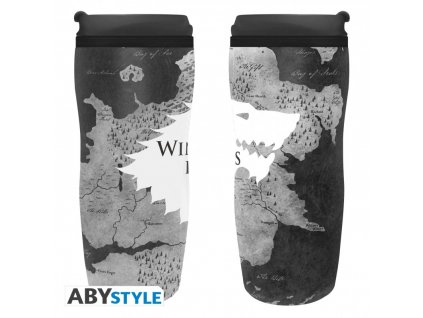 game of thrones travel mug winter is here