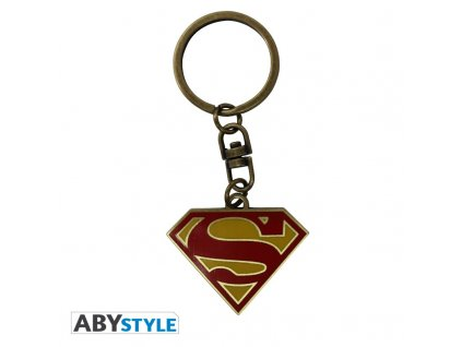 dc comics keychain superman logo x4