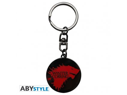 game of thrones keychain winter is coming x4